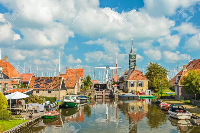The old village of Hindeloopen, The Netherlands