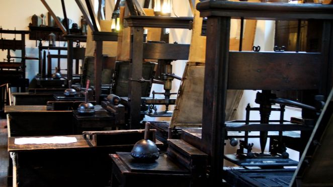 Printing presses in the Museum Plantin-Moretus.